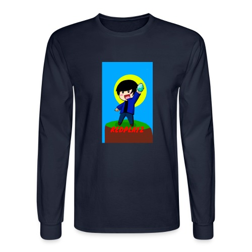 BLUE REDPLAYZ T-SHIRT ORIGINAL DESIGN - Men's Long Sleeve T-Shirt