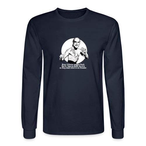 Bruce Schneier Fact #10b - Men's Long Sleeve T-Shirt