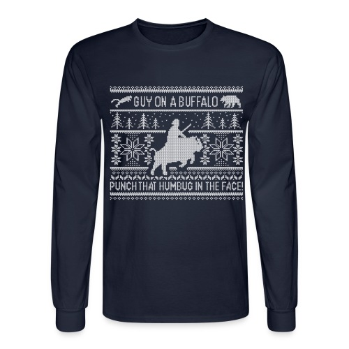 Guy on a Buffalo X-mas 17 - Men's Long Sleeve T-Shirt