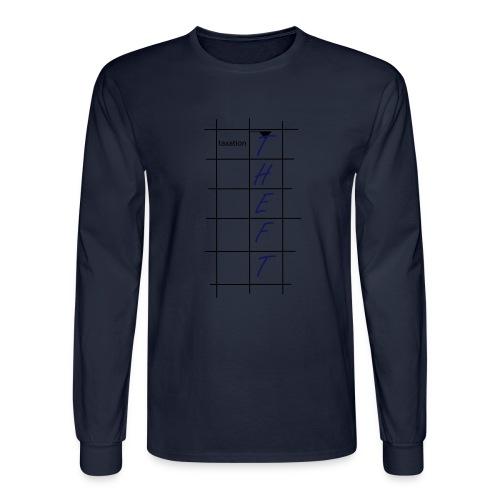Taxation is Theft Crossword - Men's Long Sleeve T-Shirt