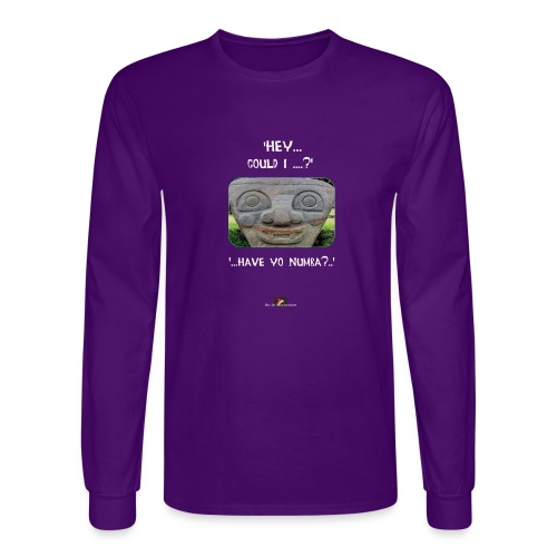 The Hey Could I have Yo Number Alien - Men's Long Sleeve T-Shirt
