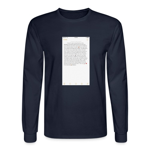 Text from a Football Commit - Men's Long Sleeve T-Shirt