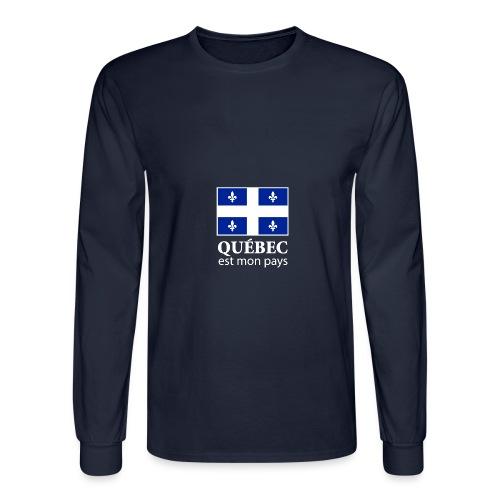 Québec est mon pays - Men's Long Sleeve T-Shirt