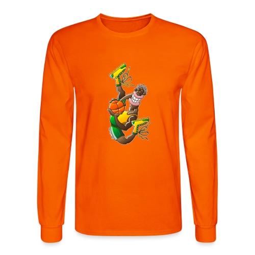 Acrobatic basketball player performing a high jump - Men's Long Sleeve T-Shirt