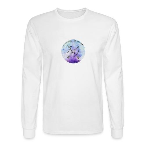 everyday is a new adventure logo - Men's Long Sleeve T-Shirt