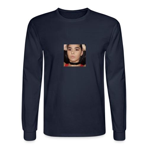Orange & Black Cut Crease - Men's Long Sleeve T-Shirt