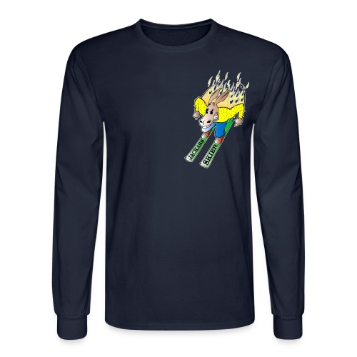 Jackass Skier - Men's Long Sleeve T-Shirt
