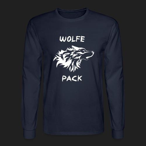wolfepackinvert png - Men's Long Sleeve T-Shirt