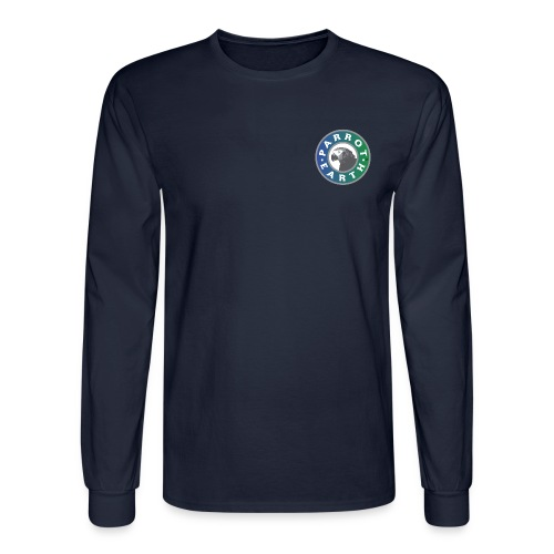 ParrotEarth Logo1 gradientTM png - Men's Long Sleeve T-Shirt