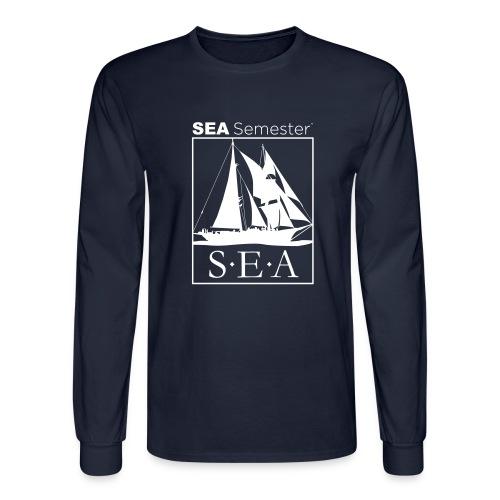 SEA_logo_WHITE_eps - Men's Long Sleeve T-Shirt