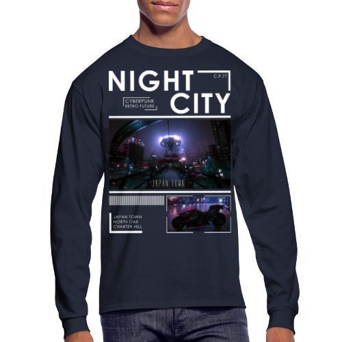 Night City Japan Town - Men's Long Sleeve T-Shirt