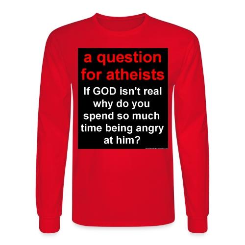question4atheists black - Men's Long Sleeve T-Shirt