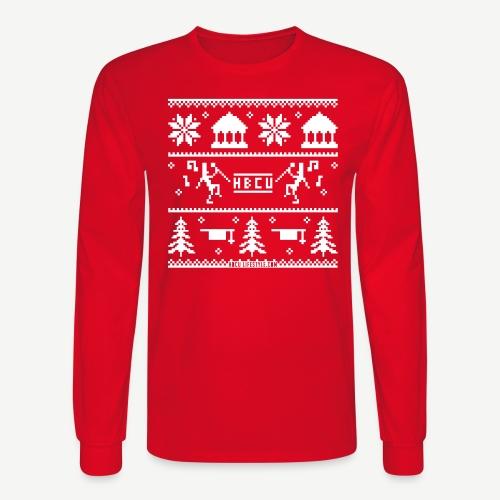 HBCU Ugly Christmas Sweater - Men's Long Sleeve T-Shirt