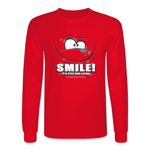 Smile - it's still non-lethal - Men's Long Sleeve T-Shirt