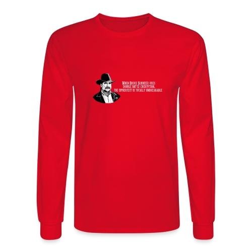 Bruce Schneier Fact #15 - Men's Long Sleeve T-Shirt