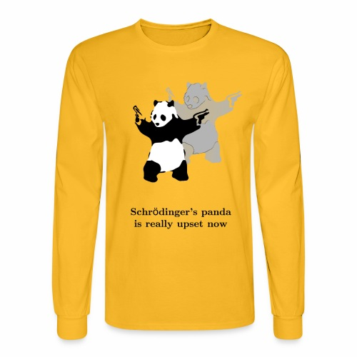 Schrödinger's panda is really upset now - Men's Long Sleeve T-Shirt