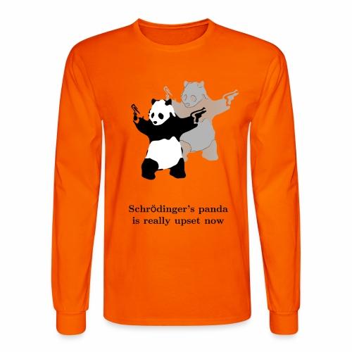 Schrödinger's panda is really upset now - Men's Long Sleeve T-Shirt