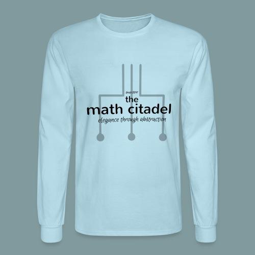 Abstract Math Citadel - Men's Long Sleeve T-Shirt