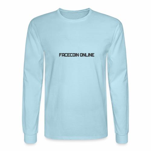 facecoin online dark - Men's Long Sleeve T-Shirt