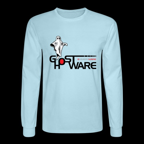 Ghostware Wide Logo - Men's Long Sleeve T-Shirt