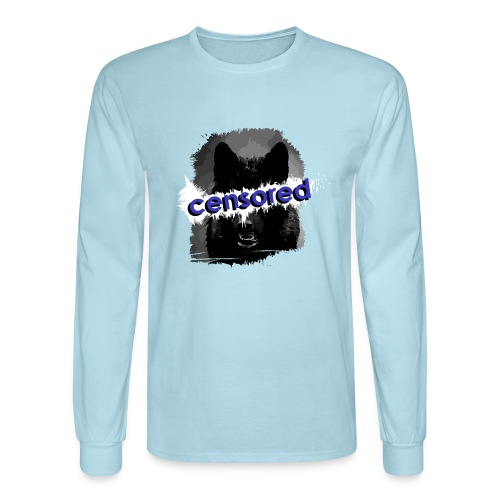 Wolf censored - Men's Long Sleeve T-Shirt