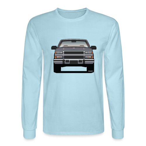 Design Icon: American Bowtie Silver Urban Truck - Men's Long Sleeve T-Shirt