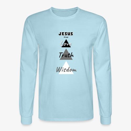 Love Truth Wisdom - Men's Long Sleeve T-Shirt