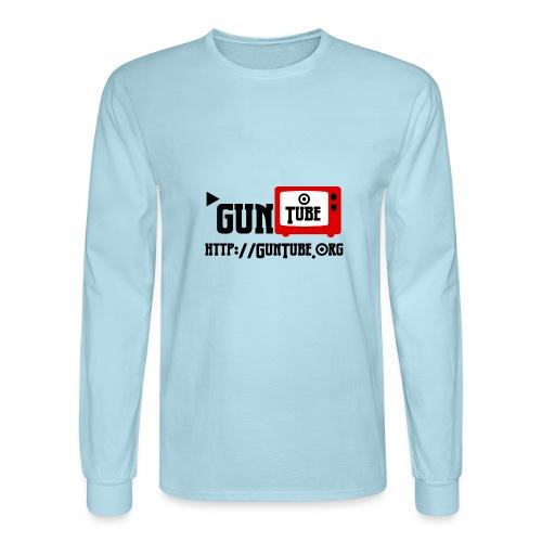 GunTube Shirt with URL - Men's Long Sleeve T-Shirt