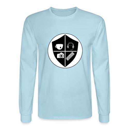 Punk Who Drinks Tea Crest - Men's Long Sleeve T-Shirt