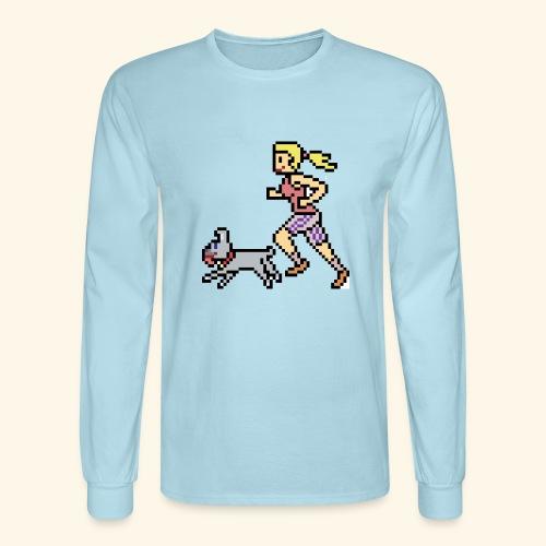 RunWithPixel - Men's Long Sleeve T-Shirt