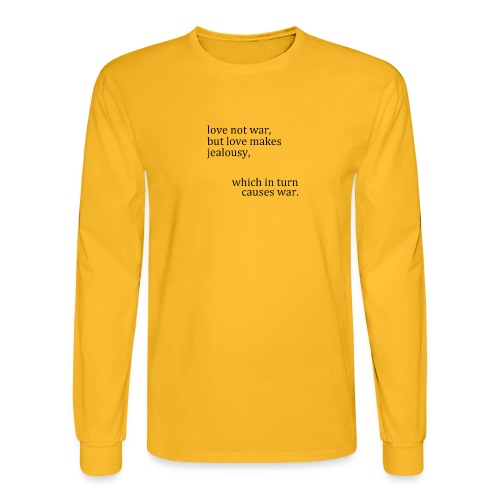 love not war - Men's Long Sleeve T-Shirt