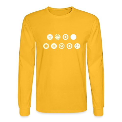 Axis & Allies Country Symbols - One Color - Men's Long Sleeve T-Shirt