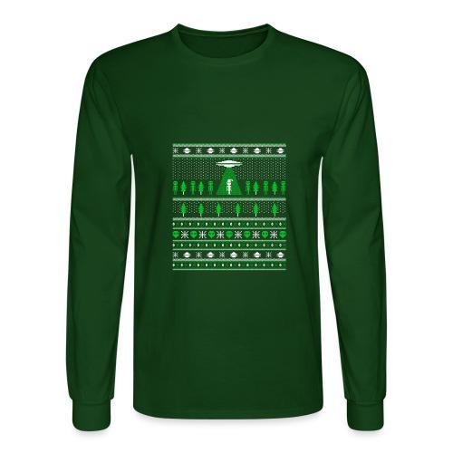 UFO ALIEN UGLY Christmas - Men's Long Sleeve T-Shirt
