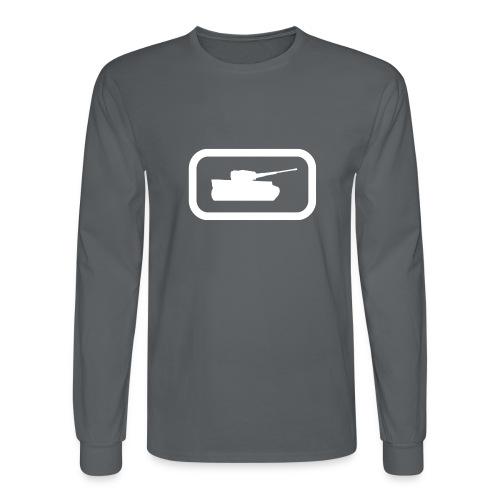 Tank Logo (White) - Axis & Allies - Men's Long Sleeve T-Shirt
