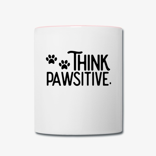Think Positive - Paws - Contrast Coffee Mug