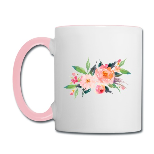 Watercolor Flowers - Contrast Coffee Mug