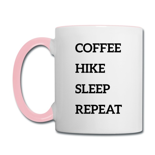 Coffee, hike, sleep, repeat - Contrast Coffee Mug
