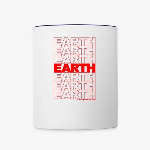 earth - take out - Contrast Coffee Mug
