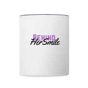 Behind Her Smile - Contrast Coffee Mug