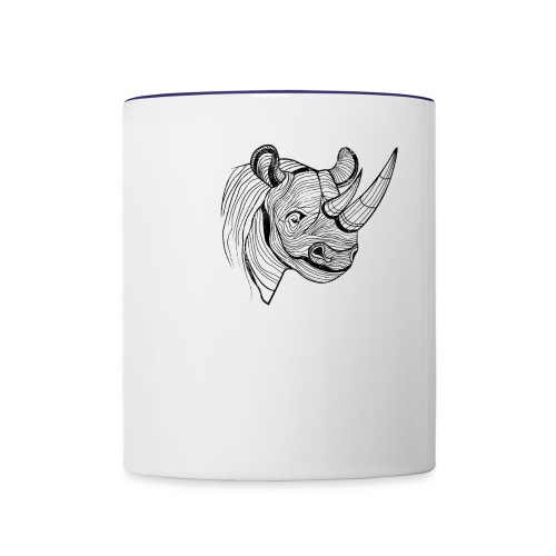 Save the Rhinos - Contrast Coffee Mug