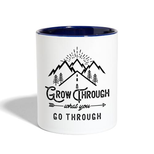 Grow Through What You Go Through - Black - Contrast Coffee Mug