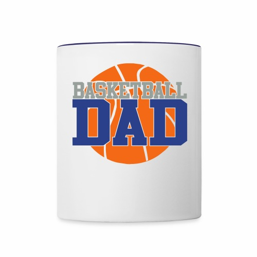 Basketball dad - Contrast Coffee Mug