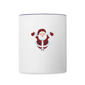 Santa Design - Contrast Coffee Mug