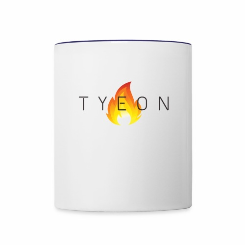 TYEON Flame Logo Black - Contrast Coffee Mug