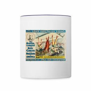 Human Flies - Retro Circus Act - Contrast Coffee Mug