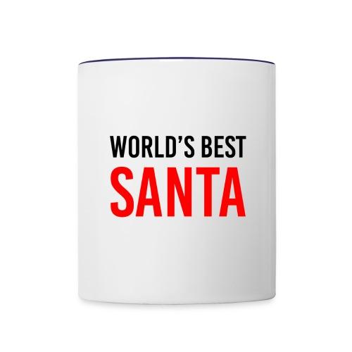 World's Best Santa Mug - Contrast Coffee Mug