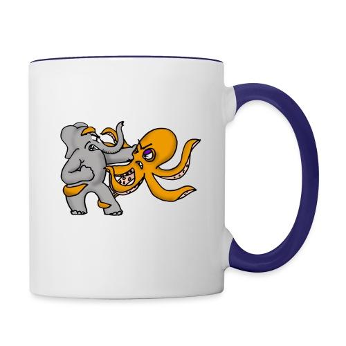 Elephant vs. Octopus Mug - Contrast Coffee Mug