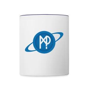 Mining Planet Logo PLANET transparent - Contrast Coffee Mug