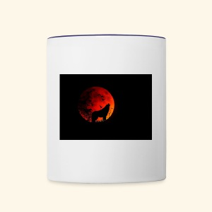 full moon Wolf Mug - Contrast Coffee Mug