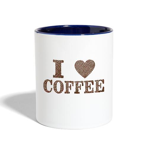 coffee bean - Contrast Coffee Mug